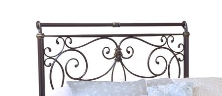 Hillsdale Furniture 1643H Brady Headboard with Rails Included, Free-Flowing Scrollwork, Intricate Castings and Tubular steel Construction in Antique Bronze Finish