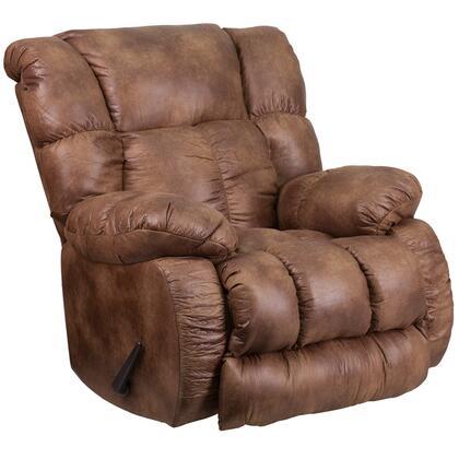 Flash Furniture WA823069 Contemporary, Breathable Comfort Padre Fabric Rocker Recliner