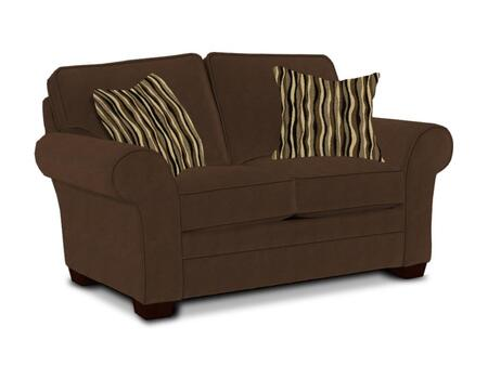 """Broyhill Zachary Collection 7902-1QX 67"""" Loveseat with Fabric Upholstery, Rolled Arms, Piped Stitching and Casual Style in"""