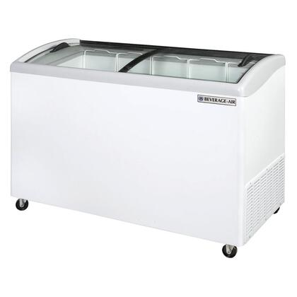 NC Curved Lid Display Freezer/Novelty Case in White, [4.7 Cu. Ft.]