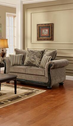 Chelsea Home Furniture 6000L Fabric Stationary with Wood Frame Loveseat