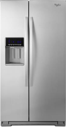 "Whirlpool WRS571CIDM 36"" Counter Depth Side by Side Refrigerator with 20.6 cu. ft. Capacity in Stainless Steel"