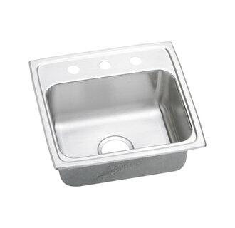 "Elkay LRAD1918650 19"" Top Mount Self-Rim Single Bowl 18-Gauge ADA Compliant Stainless Steel Sink"