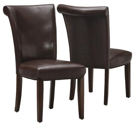 "Monarch I 166 Two Piece 39"" Side Chair Set, with Wood Legs, Padded Seat and Back"