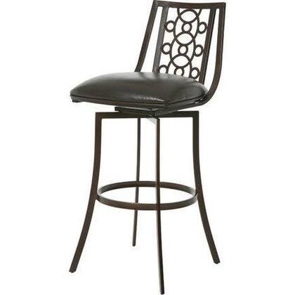 Pastel Furniture QLVJ219 Valentijn Bar Height Swivel Barstool in Brown