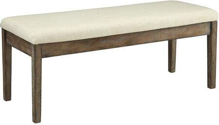 Acme Furniture 71718 Claudia Series Kitchen Armless Wood Fabric Bench