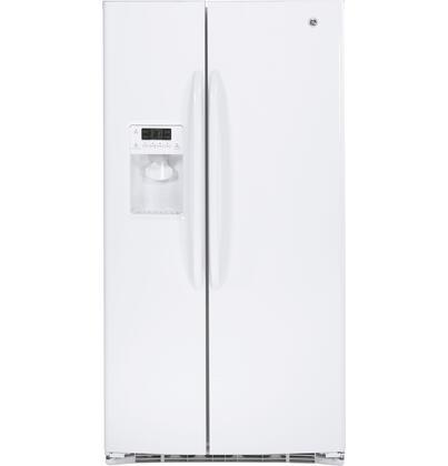 GE GSHF6LGBWW Freestanding Side by Side Refrigerator