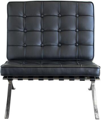 Diamond Sofa CORDOBACHBL Cordoba Series Bonded Leather with Metal Frame in Black