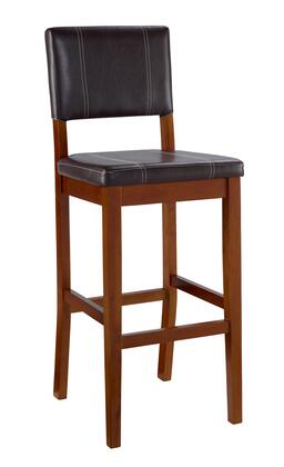 Linon 0211VBRN12101KD Milano Series Commicial or Residential Vinyl Upholstered Bar Stool
