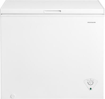 Frigidaire FFFC0xM1TW Chest Freezer with StoreMore Removable Basket, Adjustable Temperature Control, Defrost Water Drain, and Manual Defrost, in White
