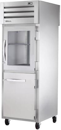 True STG1RPT-1HS Spec Series Pass-Thru Refrigerator with 31 Cu. Ft. Capacity, LED Lighting and Combination Half Front and Solid Rear Swing-Doors