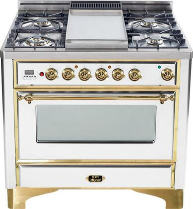 """Ilve UM90FVGGBS 36"""" Majestic Series Gas Freestanding"""
