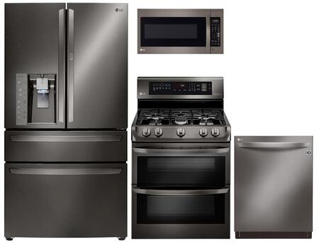 LG 729030 Black Stainless Steel Kitchen Appliance Packages