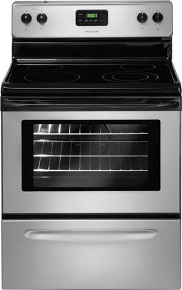 Frigidaire FFEF3013LM  Electric Freestanding Range with Smoothtop Cooktop, 4.8 cu. ft. Primary Oven Capacity, Storage in Silver