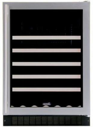 "Marvel 61WCMR 24"" Wine Cellar with 45-Bottle Capacity Including Magnums, 5 Extendable Racks, Fixed Wine Cradle, Inclined Display Rack, Right Hinge Door Opening"