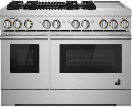 Jenn-Air JDRP748HL Rise Series 48 Inch Dual Fuel Convection Freestanding  Range