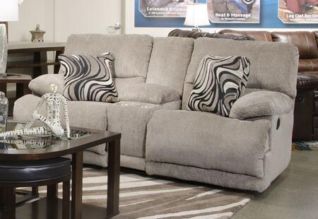 "Catnapper Jules Collection 2209- 79"" Reclining Console Loveseat with Storage, Chenille Fabric Upholstery, Pillow Top Arms and Steel Seat Box in"