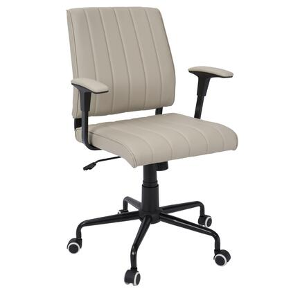 "LumiSource Cache OFC-CACH 34"" - 37"" Office Chair with PU Leather Upholstery, Adjustable Height and Casters in"