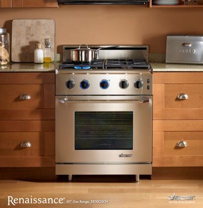 """Dacor ER30GSCHNGH 30"""" Renaissance Series Gas Freestanding"""