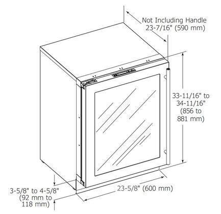 U Line U 3024rgl 24 3000 Series Star K Compact Refrigerator With