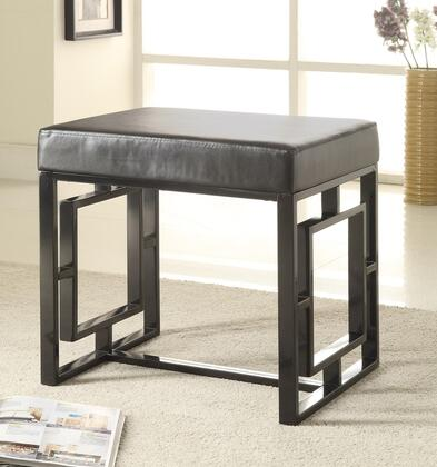 Coaster 501154 Benches Series Accent Armless Metal Leather Bench