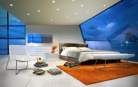 Modloft Md335kgry Madison Series King Size Platform Bed
