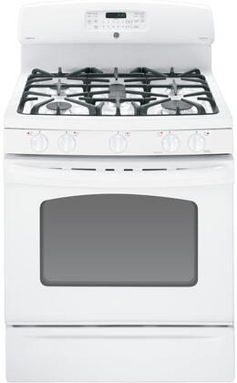 GE JGB605DETWW  Gas Freestanding Range with Sealed Burner Cooktop, 5.0 cu. ft. Primary Oven Capacity, Storage in White