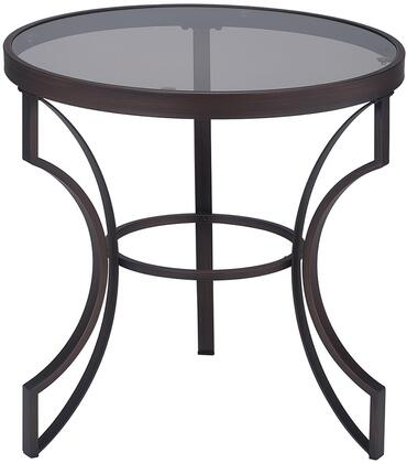 Coaster 704457 Fairhaven Series Traditional Metal Round None Drawers End Table