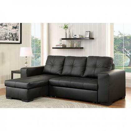 """Furniture of America Denton Collection CM6149XX-SET 97"""" 2-Piece Sectional with Reversible Chaise, Pullout Sleeper and Underseat Storage in"""
