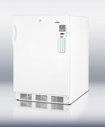 """Summit VT65MLMEDADA 24""""  Counter Depth Freezer with 3.2 cu. ft. Capacity in White"""
