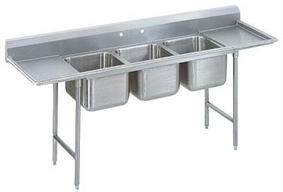 Advance Tabco Three Compartment, Left and Right Side Drainboard