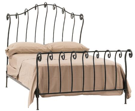 Stone County Ironworks 904112  King Size Sleigh HB & Frame Bed