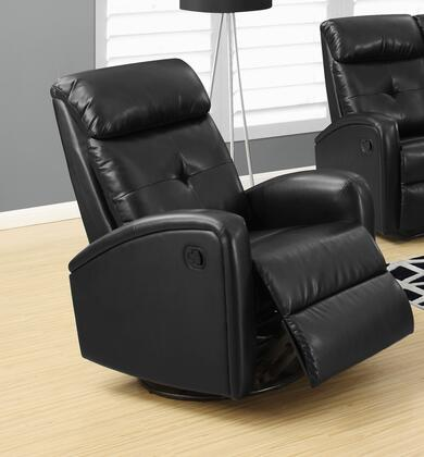 "Monarch I 8088X 41"" Recliner with Tufted Back, Bonded Leather Upholstery and Padded Head Rest"