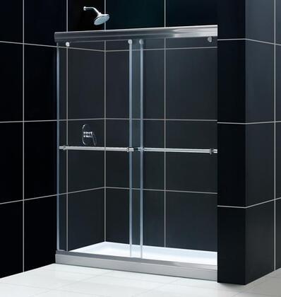 """DreamLine DL-69 Charisma Frameless Bypass Sliding Shower Door and SlimLine 30"""" by 60"""" Single Threshold Shower Base in"""