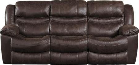 """Catnapper Valiant Collection 1401- 90"""" Power Reclining Sofa with Faux Leather Upholstery, Steel Seat Box Construction and Pillow Top Arms in"""