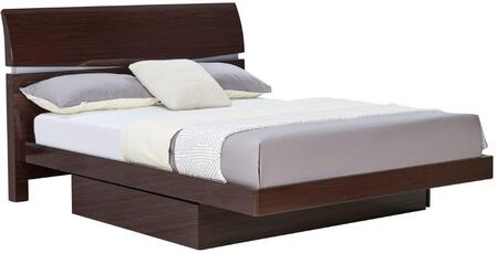 Global Furniture USA AuroraQueenBed Aurora Contemporary Queen Bed
