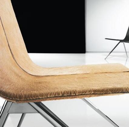 Modloft CDS094ASCA Mayfair Series Modern Animal Hide Metal Frame Dining Room Chair