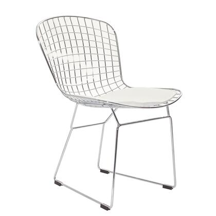 Modway EEI161WHI CAD Series Dining Vinyl Metal Frame Accent Chair