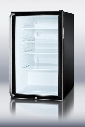 "Summit SCR500BL7SH 20"" Compact Refrigerator with 4.1 cu. ft. Capacity in Black"