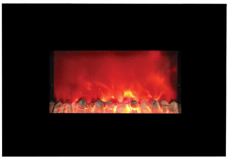US Stove EWH Widescreen Wall-Mount Electric Heater with Completely Random Flame Simulated Gas Fire, 2 Heat Settings, Economical to Operate and Polished Glass Surface Stays Cool to the Touch