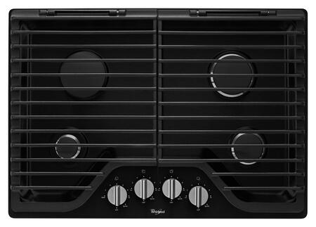 "Whirlpool WCG75US0DB 30"" Gas Sealed Burner Style Cooktop, in Black"