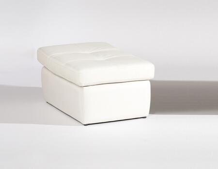 Chintaly SONOMAOTOWHT Sonoma Series Contemporary Leather Ottoman