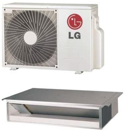 LG LDxx7HV4 Single Zone Low Static Duct Mini Split System with Cooling Capacity, Heating Capacity, Inverter, Sleep Mode, Timer, and Control Lock