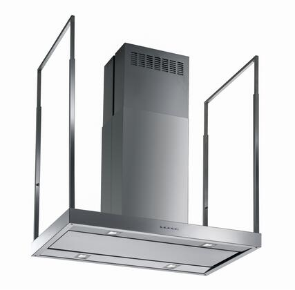 """Futuro Futuro ISxEUROPE x"""" Europe Series Range Hood with 940 CFM, 4-Speed Electronic Controls, Delayed Shut-Off, Filter Cleaning Reminder, and in Stainless Steel"""