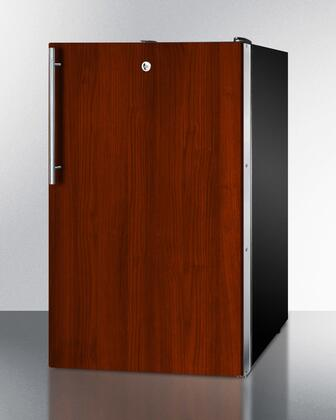 """AccuCold FS408BL7BIx 20"""" Upright Freezer with 2.8 cu. ft. Capacity, Factory Installed Lock, Manual Defrost, Pull-Out Drawers and Reversible Door, in Panel Ready"""