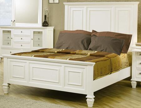 Coaster 201301Q Sandy Beach Series  Queen Size Panel Bed