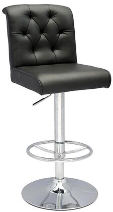 Chintaly 0355AS Residential Bonded Leather Upholstered Bar Stool