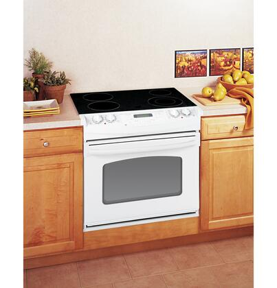 GE JDP42DTWW Electric Smoothtop 4 No None Yes Slide-In Range  Appliances Connection