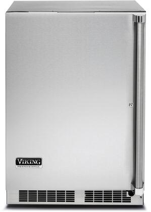 """Viking VRUO5240D 24"""" Energy Star Rated Professional 5 Series Undercounter Refrigerator with 5.1 cu. ft. Capacity, Dynamic Cooling System, and MaxStore Smooth-Glide Clear Utility Bin: Stainless Steel"""