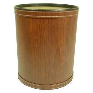 Redmon R730X Woodgrain Vinyl Round Wastebasket